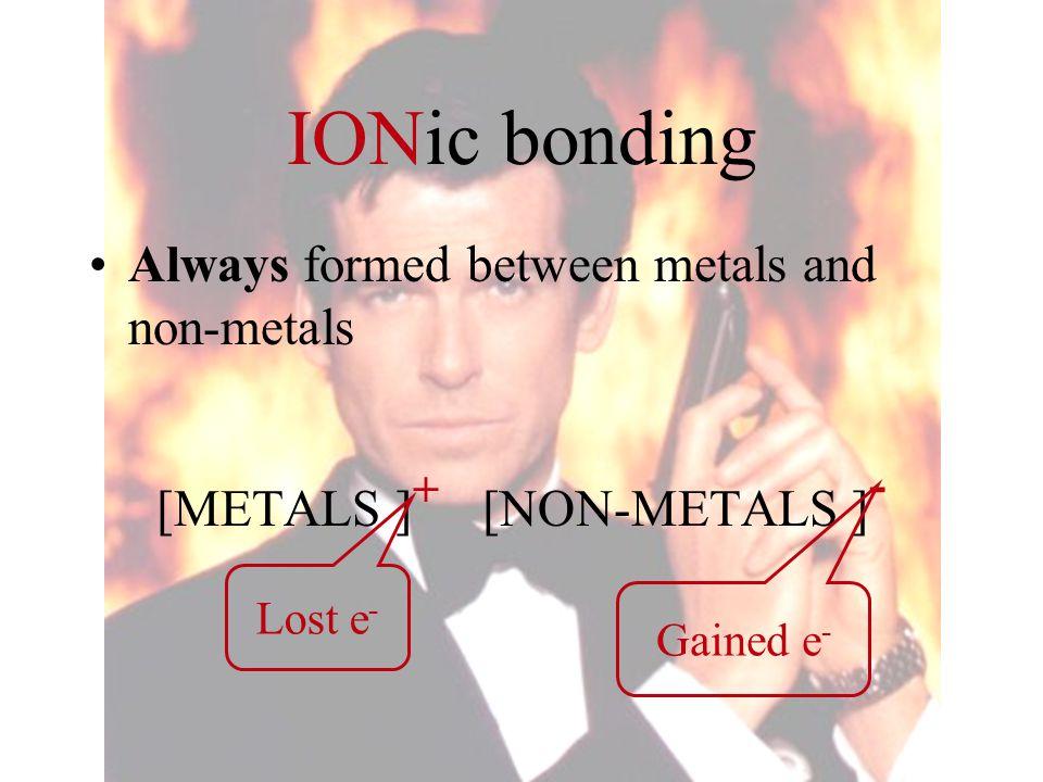 [METALS ]+ [NON-METALS ]-